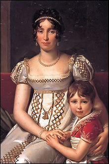 Je suis la reine Hortense (1783-1837), reine de Hollande; vous me voyez avec mon fils, qui sera plus tard :