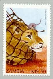 Le lion de La Fontaine était pris dans des ----------- .