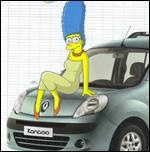 Pour quelle marque Marge pose-t-elle ?