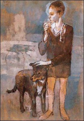 Qui a peint Garçon et chien ?