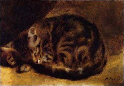 Qui a peint Chat dormant ?