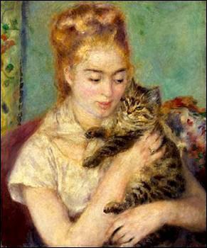 Qui a peint Fille au chat noir ?