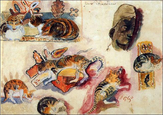 Qui a peint Etude de chats et une tête ?