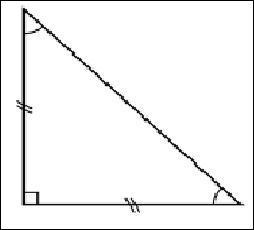 Combien mesurent les angles opposés à l'angle droit dans un triangle rectangle isocèle ?