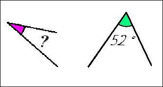 Cochez la proposition correspondant à 2 angles complémentaires :
