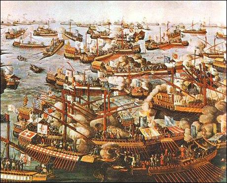 1571 : Bataille navale de Lépante, la Sainte-Ligue écrase les Ottomans. Quel pays n'en faisait pas partie ?