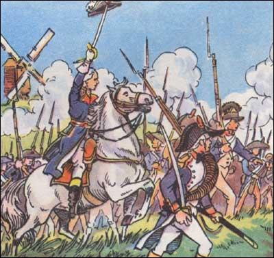 Les conscrits français remportent la victoire de Valmy contre les Prussiens pendant...