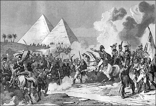 Aux pyramides, Bonaparte dit : ''Soldats ! Songez que du haut de ces monuments ------- siècles vous contemplent ! '