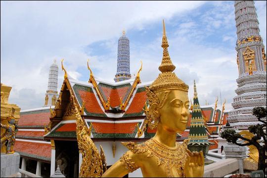 Elevé à la fin du XVIIIè siècle, le palais royal de Bangkok est aujourdhui