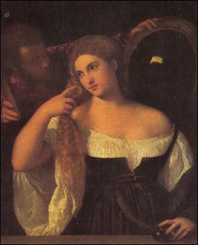 Quel peintre a réalisé 'La femme au miroir' ?