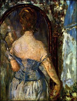 Quel peintre a réalisé 'Devant le miroir' ?