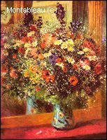 Quel peintre a réalisé 'Bouquet devant un miroir' ?