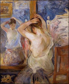 Quelle peintre a réalisé 'Devant le miroir' ?