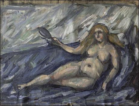 Quel peintre a réalisé 'Femme nue au miroir' ?