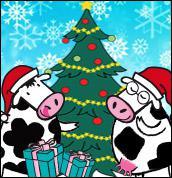 Quel animal est déguisé pour Noël ?