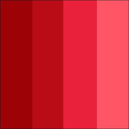 Le ... est la couleur du sang