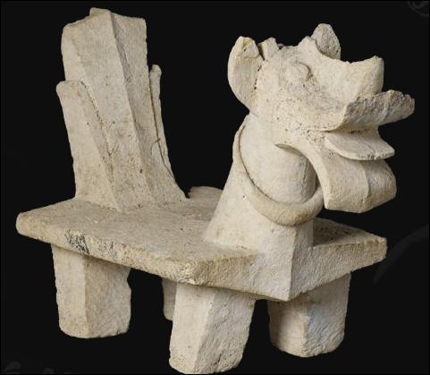 Ce siège cérémoniel en pierre calcaire est originaire :