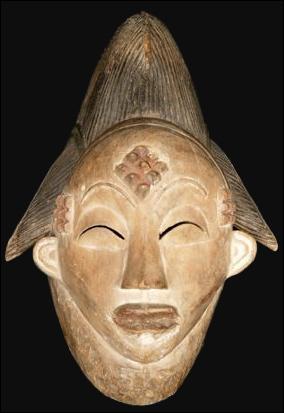 Daté du 19ème siècle, ce masque 'okuyi' figure une jeune fille revenue du monde des défunts. On le doit aux :