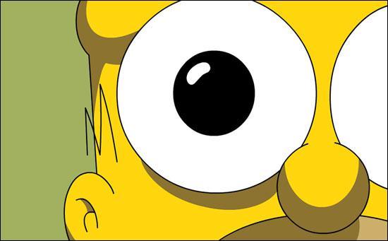 Homer, je rêve ou ton oeil ressemble à un...