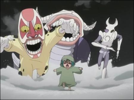 Quel est le nom du personnage à gauche de la photo ?
