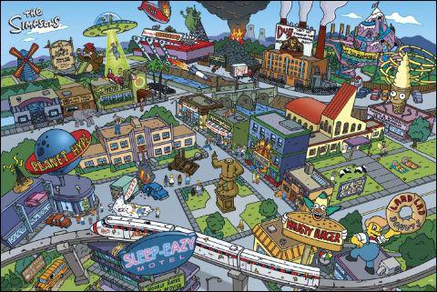 Comment se nomme cette ville où vit la famille Simpson ?