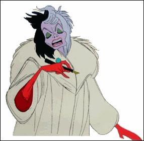 Dans quel film apparait une méchante qui rêve d'un manteau en fourrure de chien ?