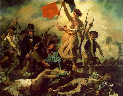 La liberté guidant le peuple :