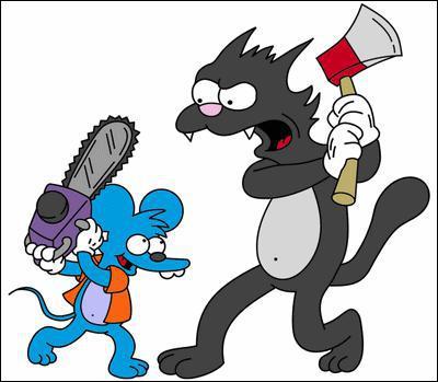 Comment s'appelle le chien d'Itchy et Scratchy ?