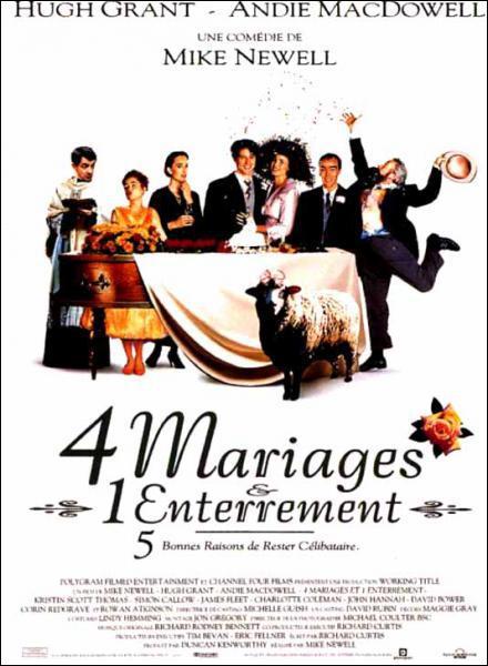 Quelle est la figure de style utilisée : Quatre mariages un enterrement ?