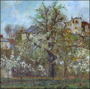 Qui a peint Pruniers en fleurs Pontoise ?