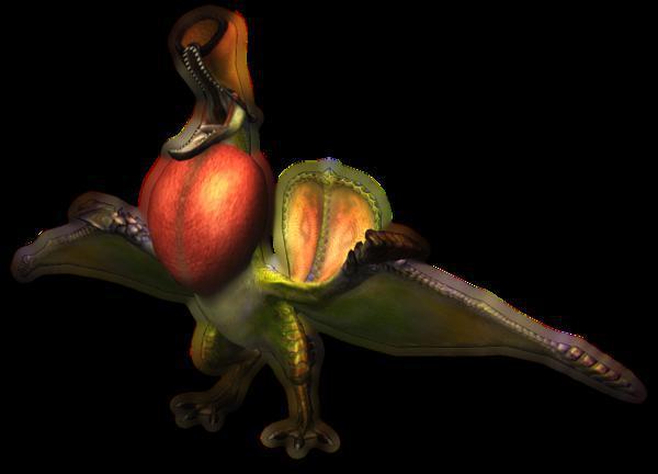 Comment se nomme ce monstre au plumage flamboyant ?