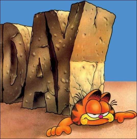 Quel jour de la semaine Garfield déteste-t-il ?