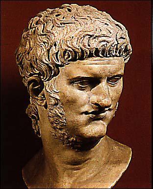 Empereur romain du Ier siècle ap J. C, il est connu pour son incendie de Rome, ses persécutions contre les chrétiens et ses nombreuses perversités. C'est également un poète raté.