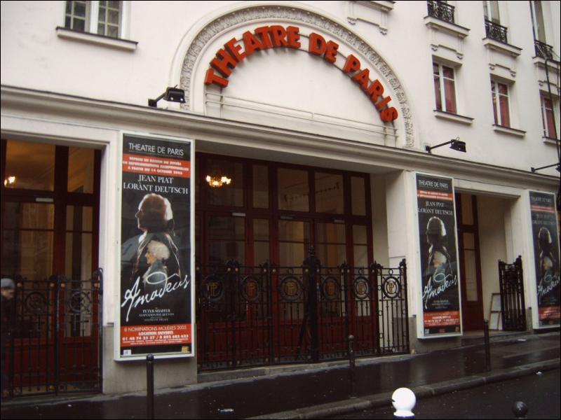 Dans quelle salle parisienne n'y a-t-il pas de représentation théâtrale ?