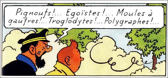 ''Troglodytes ! '' ... Ce sont des personnes qui vivent dans des grottes ou une race...