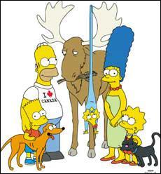 Ah oui, là, on avait perdu Maggie ! elle était restée accrochée aux bois d'un renne, c'était ...