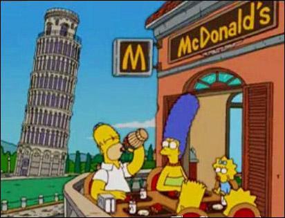On est même allé en Italie où papa nous a offert le resto typique italien, il n'avait pas remarqué derrière lui la...