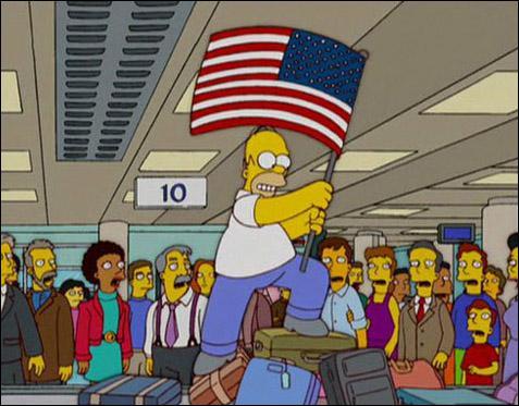 Papa a enfin compris que ce n'était pas l'Amérique partout ! La honte à chaque fois qu'on arrivait quelque part, il se prenait pour Christophe Colomb, le premier homme ayant marché sur la Lune, en fait...