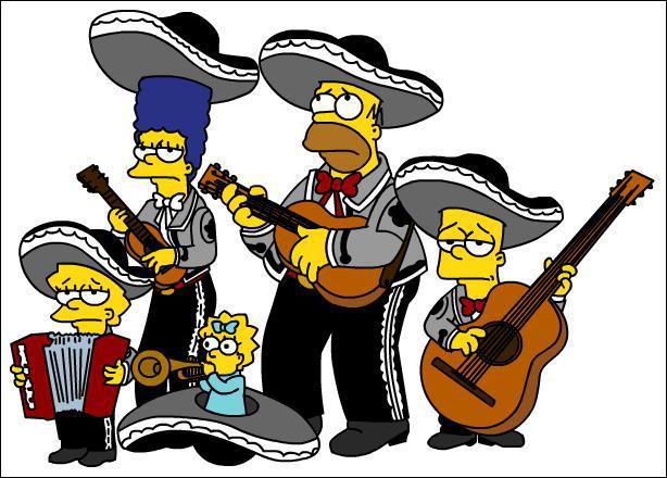 On est allé dans ce pays pas très loin de Springfield, c'est le pays de Speedy Gonzales, des sombreros, des mariachis, et on y parle l'espagnol, c'est