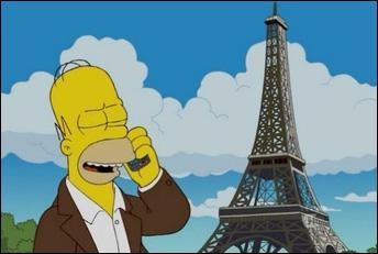 Ah oui, là c'est quand mon père Homer est parti seul pour apprendre à régler les centrales nucléaires, il a appelé en nous disant que le réseau était super grâce à une grande antenne