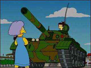 D'ailleurs ma mère Marge a participé à la révolte étudiante de la place Tian'anmen en 1989, c'était à