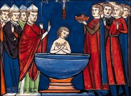 En quelle année après Jésus-Christ Clovis 1er s'est-il fait baptisé par Grégoire de Tours ?