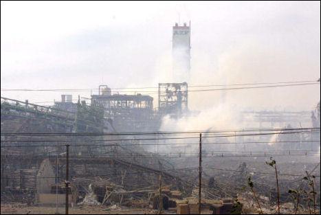 En France, dans quelle ville a eu lieu l'explosion d'une usine pétrochimique en 2001 ?