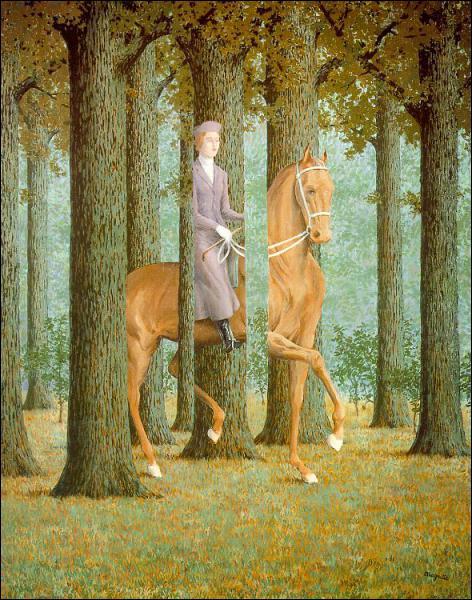 Qui a peint Dessin d'une femme qui fait une ballade à cheval dans la forêt ?