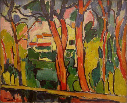 Qui a peint Paysages aux arbres rouges ?