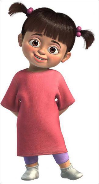 Quel est le nom de cette petite fille de 4 ans qui n'a peur de rien, surtout pas des 2 monstres Sulli et Bob ?