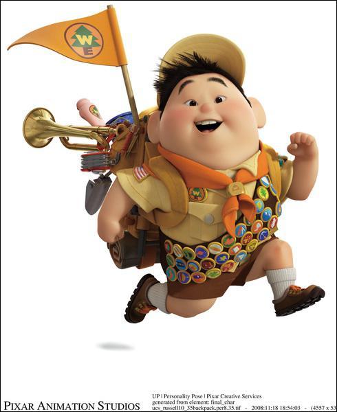 Quel est le nom de ce jeune scout qui aide le vieux Carl Fredricksen à réaliser ses rêves d'enfant ?