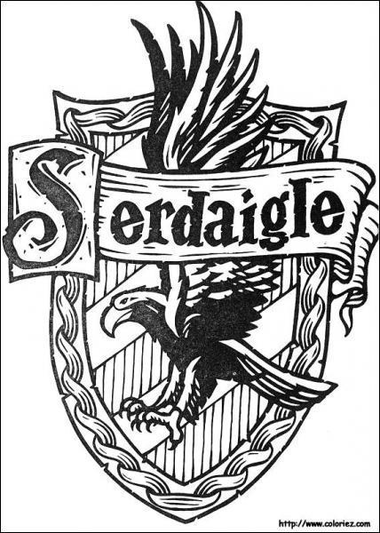 Le blazon de Serdaigle est BLEU