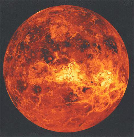 Quelle est la température moyenne à la surface de la planète Vénus ?