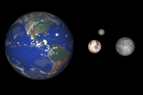 Voici 3 affirmations concernant la taille des planètes. Laquelle est fausse ?